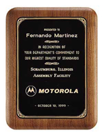 Classic Walnut Wooden Award Plaque