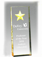 Etched Star Acrylic Award
