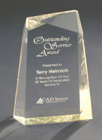 Facet Wedge Acrylic Award