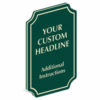 Add Custom Headline And Instructions PermaCarve Sign
