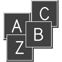 A-Z Engraved Plastic Letter Set