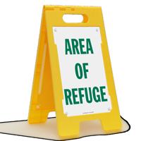 Area of Refuge FloorBoss XL™ Floor Sign