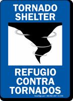 Bilingual Tornado Shelter Refugio Contra Tornados Sign