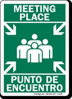 Bilingual Meeting Place / Punto De Encuentro Sign