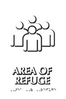 Braille Area Of Refuge Assembly Point Symbol Sign
