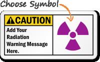 Caution (ANSI)Add Radiation Message Sign