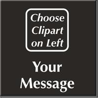 Custom Engraved Choose Clipart Sign