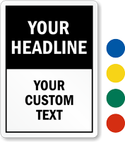 Custom Mini Sign Template