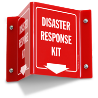 Disaster Response Kit Projecting Sign