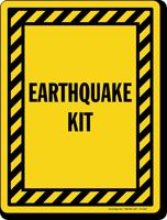 Earthquake Kit Sign