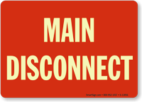 Main Disconnect (white on red)