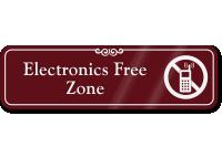 Electronics Free Zone Sign