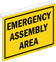 Emergency Assembly Area Z-Projecting Sign
