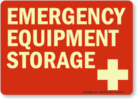 Emergency Equipment Storage (with graphic)