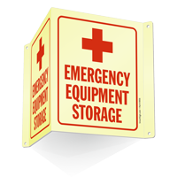 Emergency Equipment Storage Projecting Sign