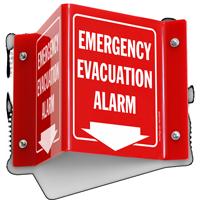 Emergency Evacuation Alarm Projecting Sign