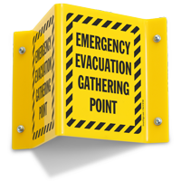Emergency Evacuation Point Projecting Sign