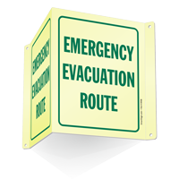 Emergency Evacuation Route Projecting Sign