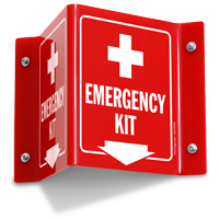 Emergency Kit Projecting Sign