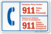 Emergency Phone Number Bilingual