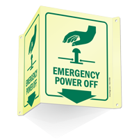 Emergency Power Off Projecting Sign