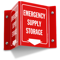 Emergency Supply Storage Projecting Sign