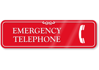 Emergency Telephone ShowCase Wall Sign