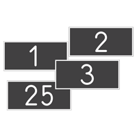 1 to 100 Engraved Number Set