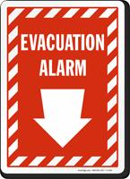 Evacuation Alarm Sign