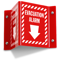 Evacuation Alarm Projecting Sign