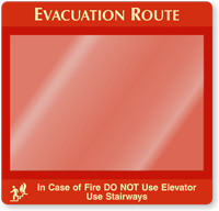 Do Not Use Elevator Evacuation Map Holder