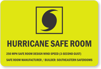 Custom Hurricane Safe Room Sign