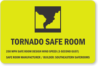 Custom Tornado Safe Room Sign