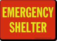 Emergency Shelter Sign