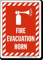 Fire Evacuation Horn Sign