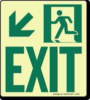 GlowSmart™ Directional Exit Sign, Downward Arrow Sign