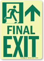 GlowSmart™ Directional Exit Sign, Up Arrow Sign