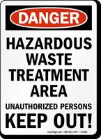 Danger Hazardous Waste Treatment Area Sign