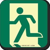 GlowSmart™ Running Man, Emergency Exit Left