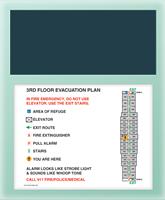 In Case Of Fire... Evac Plan Holder