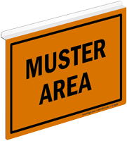 Muster Area Z-Projecting Sign