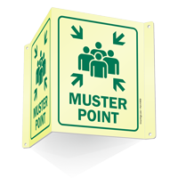 Muster Point Projecting Sign