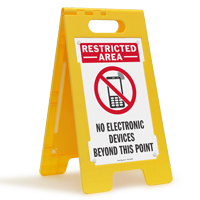 No Electronic Devices Beyond This Point Sign