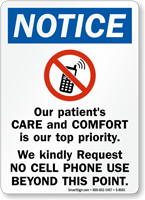 Patients Care Priority Sign