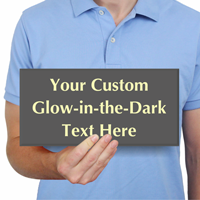 Custom Engraved Glow In The Dark Sign Add Text