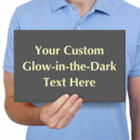 Custom Glow In The Dark Engraved Choose Clipart Sign