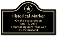 Personalized Engraved Historical Arch Marker