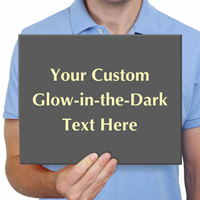 Customizable Glowing Engraved Sign
