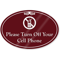 Please Turn Off Your Cell Phones ShowCase Sign
