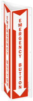 Projecting Emergency Button Sign